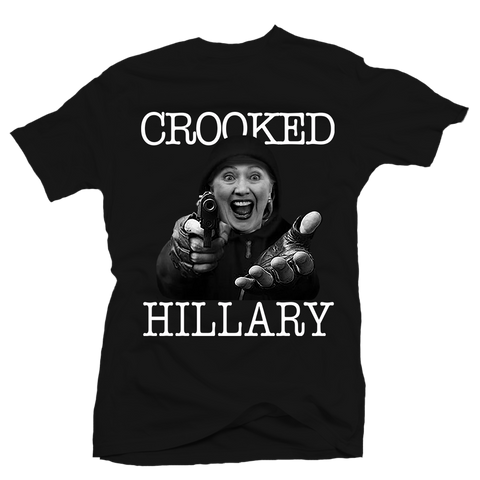 Crooked Hillary Black Tee
