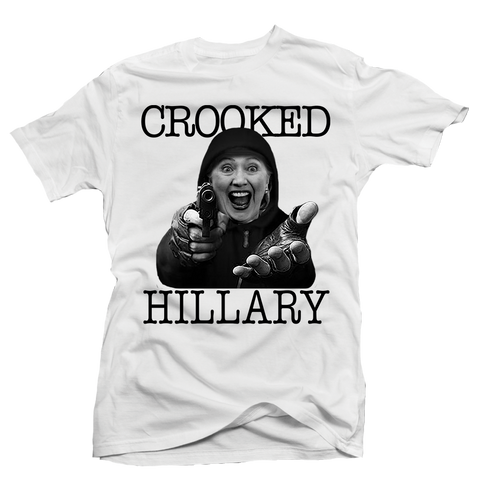 Crooked Hillary White Tee