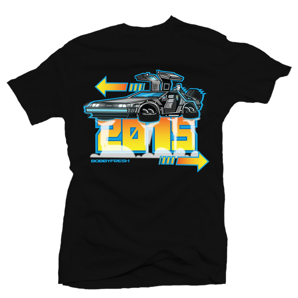 DeLorean Blk Tee