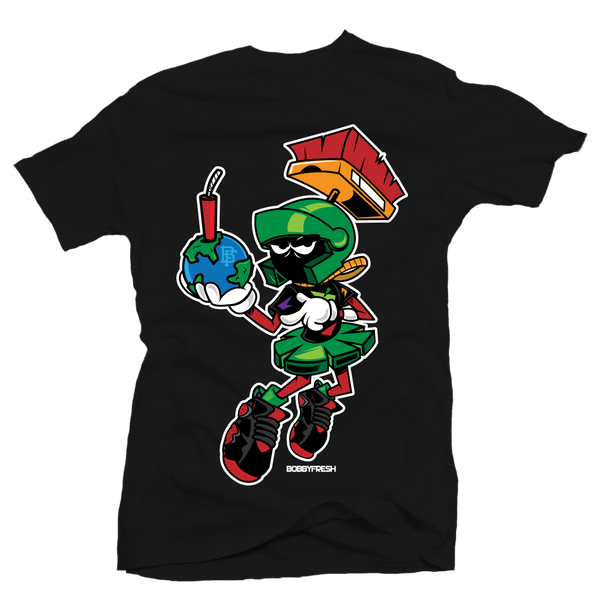 Destroy Black Martian Tee