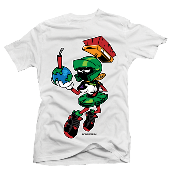 Destroy White Martian Tee