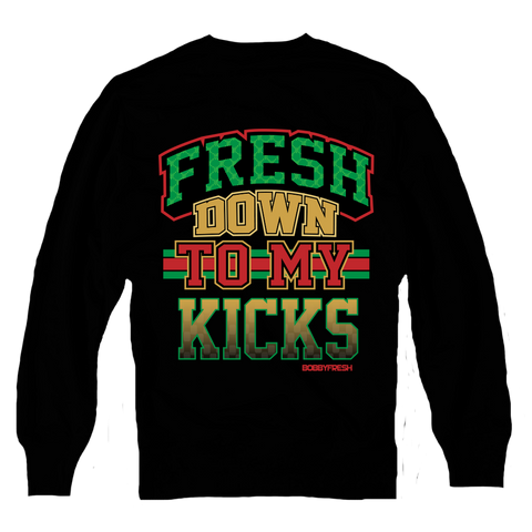 Down to My Kicks Black Crewneck