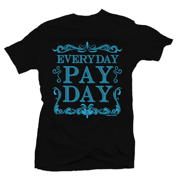 Pay Day Aqua Black Tee