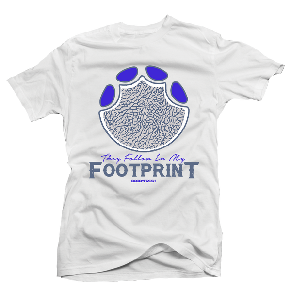Footprint White/Colbalt Tee