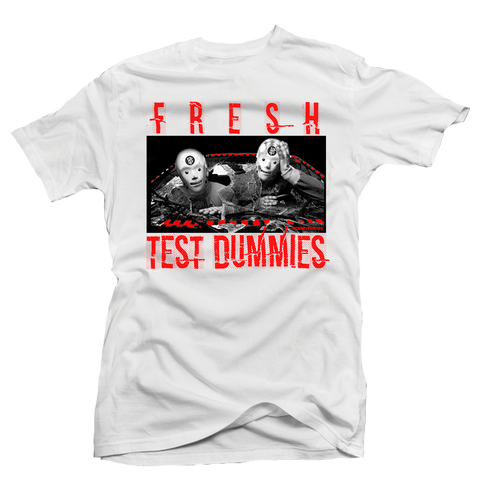 Fresh Dummies White/Red Tee