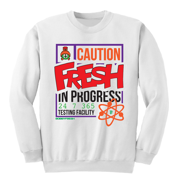Fresh Test White Crewneck