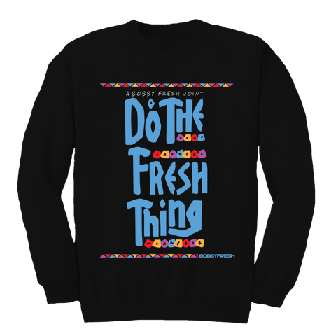 Fresh Thing Black Crewneck