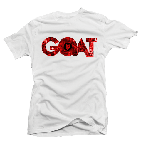 Goat White/Red Tee