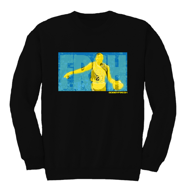 Glow Fresh CP3 Black Crewneck
