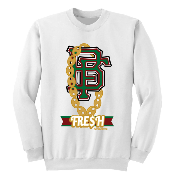 Gucci Chain White Crewneck