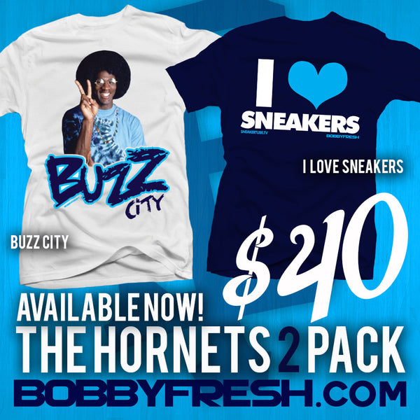 Hornets 2 Pack - Buzz City / I Love Sneakers