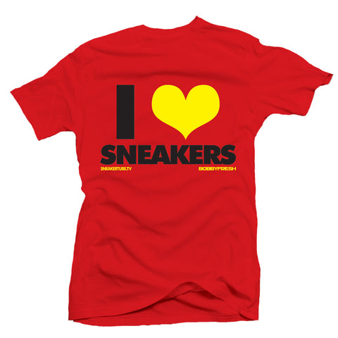 Bobby Fresh x SneakerTube I Love Sneakers Ferrari Red Tee