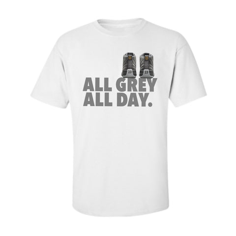 All Grey All Day White/Grey Tee