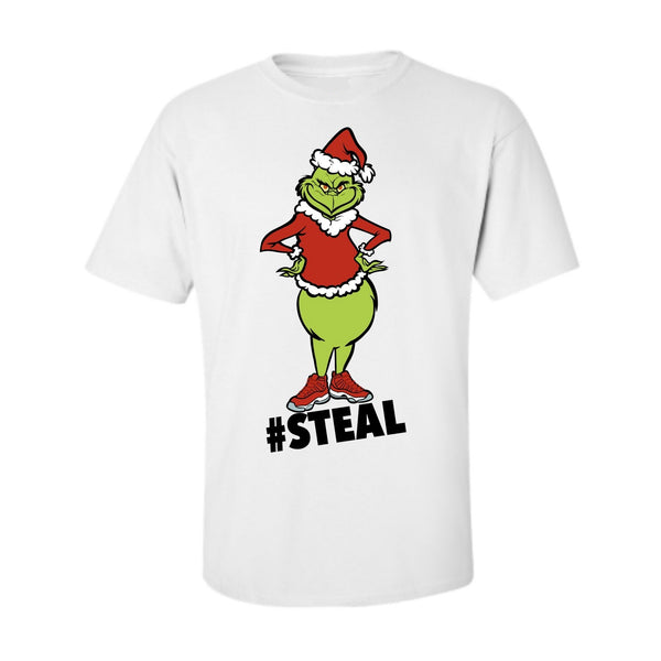 #Steal White Tee