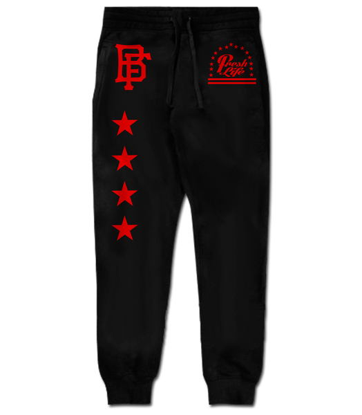 Fresh Lyfe Black Red Joggers