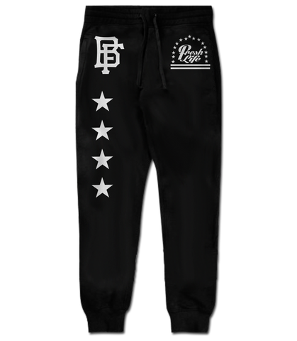 Fresh Lyfe Black Joggers