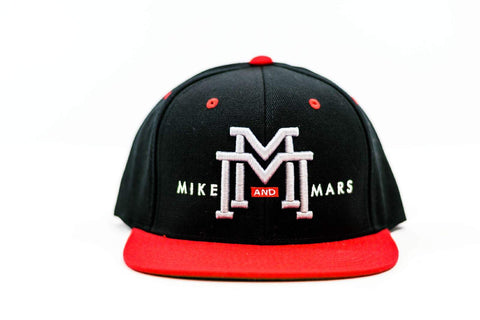 Mike and Mars Black/Red Snapback
