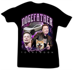 The Doge Father (Elon Musk Dogecoin) Black Tee - Bobby Fresh