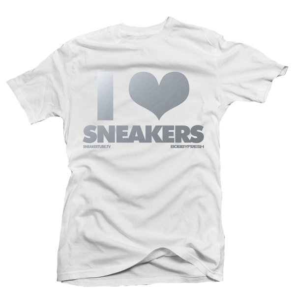 I Love Sneakers White Metallic Tee