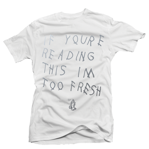 Too Late White Metallic Tee - Bobby Fresh