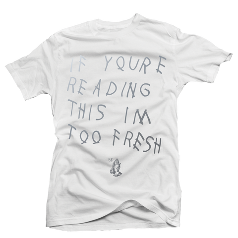 Too Late White Metallic Tee