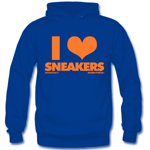 I Love Sneakers Orange Blue Hoody