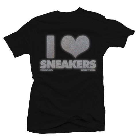 I Love Sneakers 3M Black Tee