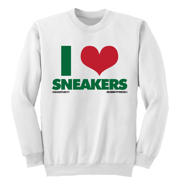 I Love Sneakers Gucci White Crewneck