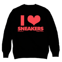 I Love Sneakers Black / Infrared Crewneck - Bobby Fresh