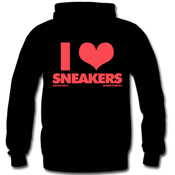 I Love Sneakers Black / Infrared Hoody