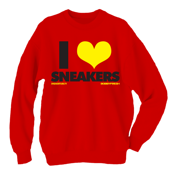 Bobby Fresh x SneakerTube I Love Sneakers Ferrari Red Crewneck