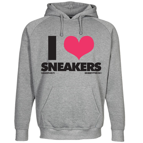 I Love Sneakers Hyper Pink Grey Hoody