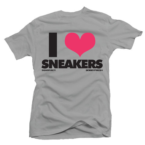 I Love Sneakers Hyper Pink Silver Tee