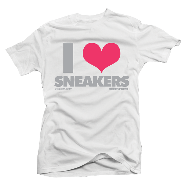 I Love Sneakers Hyper Pink White Tee - Bobby Fresh