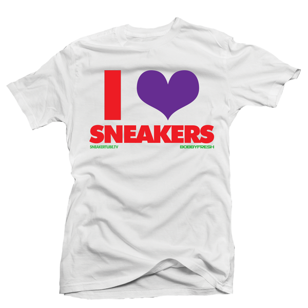 Bobby Fresh x Sneaker Tube Tv I Love Sneakers Hare White Tee