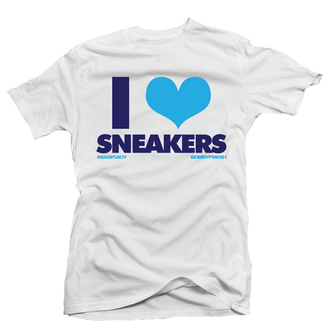 I love Sneakers Columbia White Tee