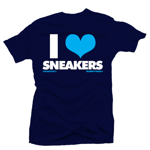 Bobby Fresh x Sneaker Tube Tv I Love Sneakers Hornets Navy Tee