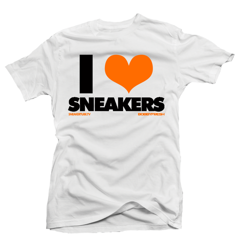 I love Sneakers Shattered Backboard White Tee