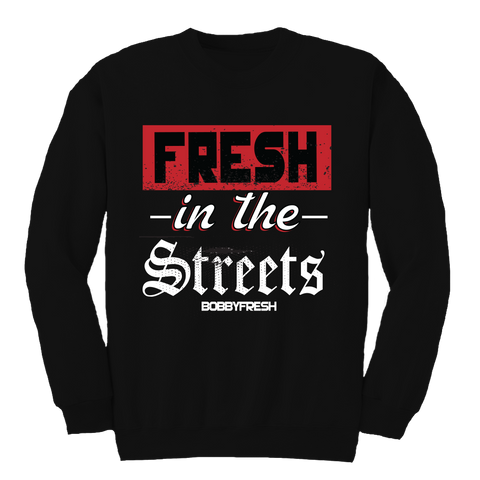 In The Streets Black Crewneck