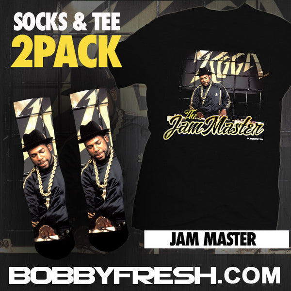 2Pack Jam Master Black Tee & Socks