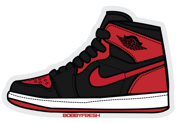 Jordan 1 Bred Sticker