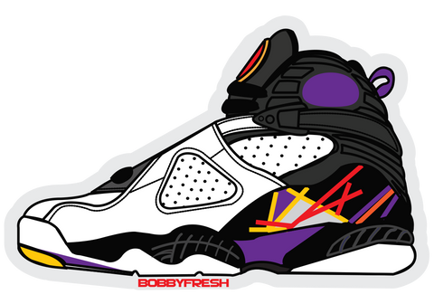 Jordan 8 3Peat Sticker