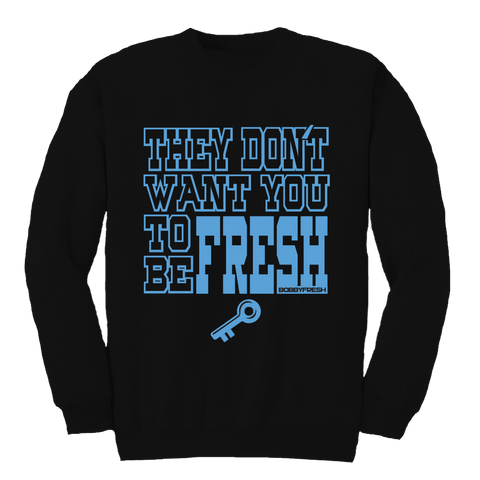 Key To Freshness Black Crewneck
