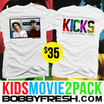 2 pack Kids Movie White Tees - Bobby Fresh