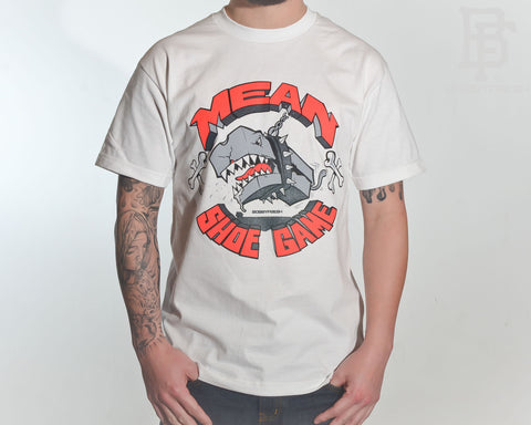 Mean Shoe Game White/Infrared Tee