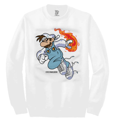 Fireball White Crewneck
