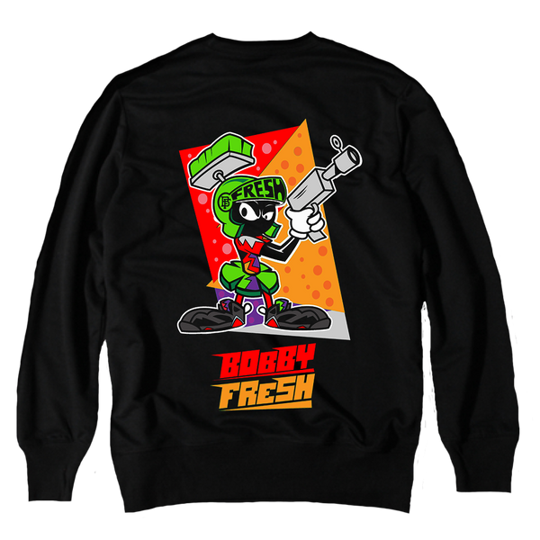 Martian Black Crewneck