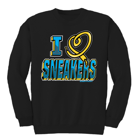 I Love Sneakers CP3 Black Crewneck
