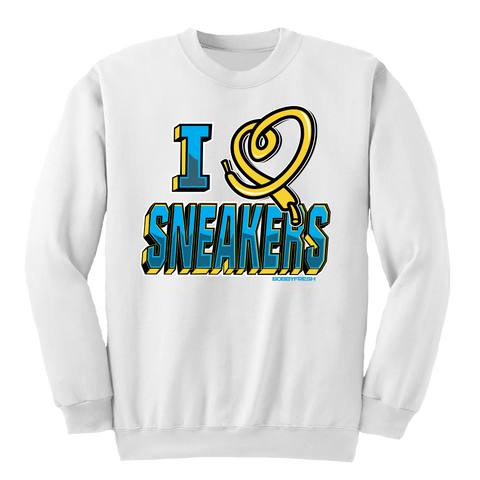 I Love Sneakers CP3 White Crewneck