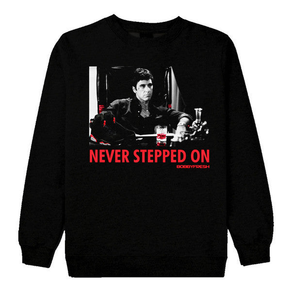 Never Stepped On Infrared Black Crewneck